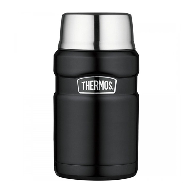 Zobrazit detail výrobku Thermos Style Termoska na jídlo se šálkem - matně černá 710 ml