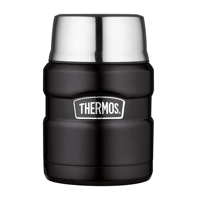 Zobrazit detail výrobku Thermos Style Termoska na jídlo se skládácí lžící a šálkem - matně černá 470 ml