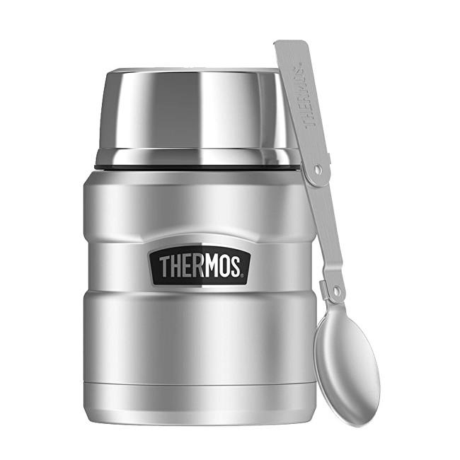 Zobrazit detail výrobku Thermos Style Termoska na jídlo se skládácí lžící a šálkem - nerez 470 ml