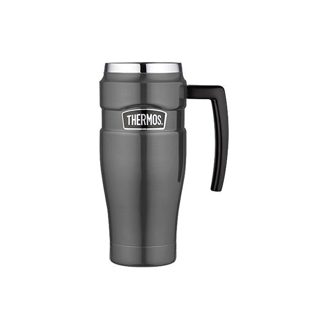 Zobrazit detail výrobku Thermos Style Vodotěsný termohrnek s madlem - metalicky šedá 470 ml