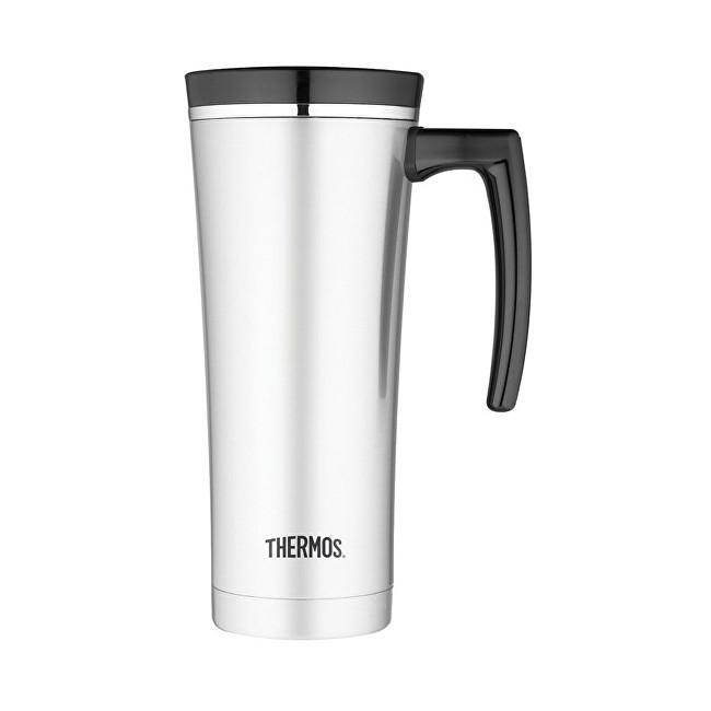 Zobrazit detail výrobku Thermos Style Vodotěsný termohrnek s madlem - nerez/černá 470 ml