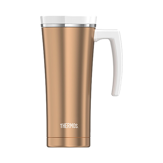 Thermos Style Vodotěsný termohrnek s madlem - růžovozlatá 470 ml