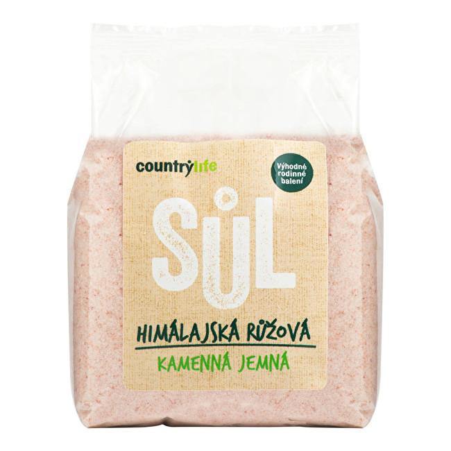Country Life Sůl himálajská růžová jemná 1kg
