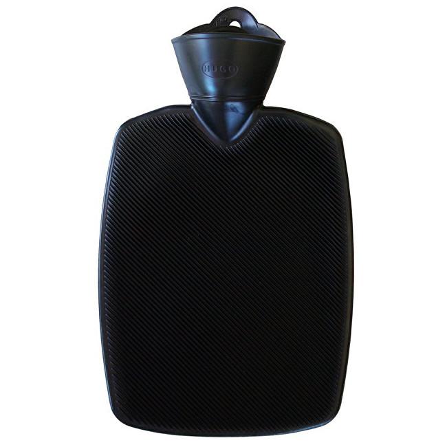Hugo-Frosch Termofor Classic s vysokým drážkováním - černý, zvýšená tepelná izolace