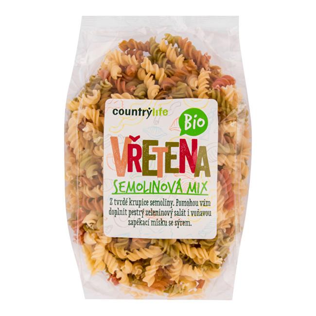 Zobrazit detail výrobku Country Life Těstoviny vřetena semolinová mix BIO 400g