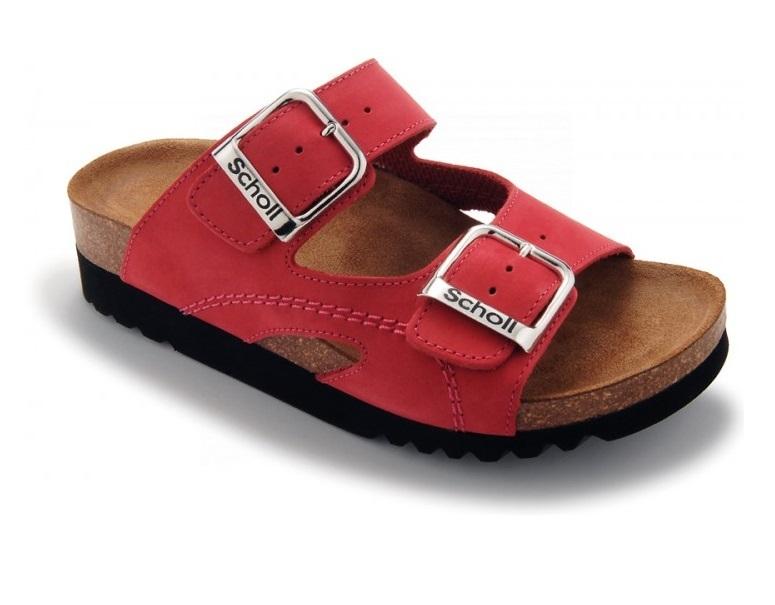 Scholl Zdravotní obuv MOLDAVA WEDGE AD - červená vel. 37