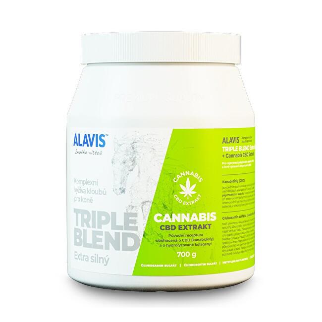 Zobrazit detail výrobku Alavis ALAVIS TRIPLE BLEND Extra silný + Cannabis CBD Extrakt 700 g