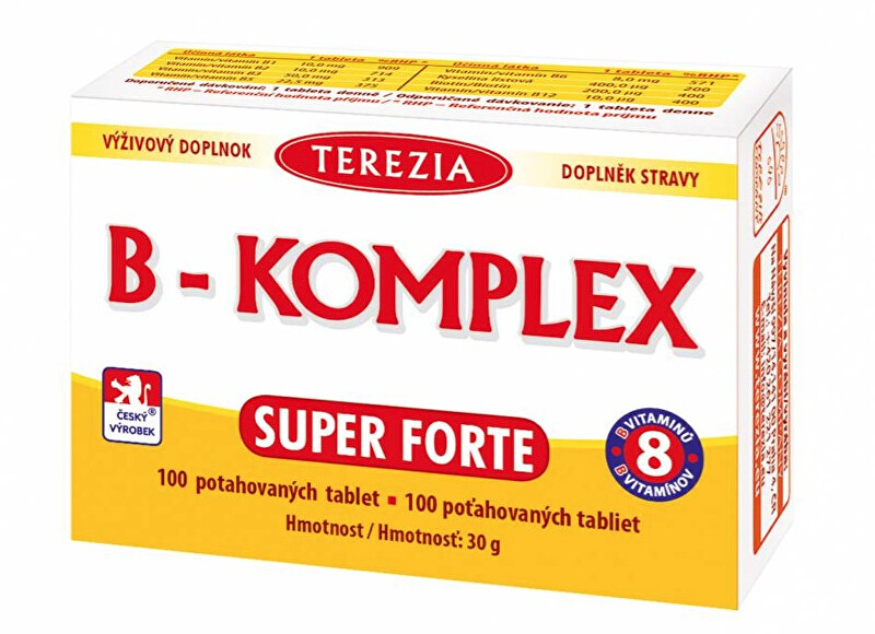 Zobrazit detail výrobku Terezia Company B-Komplex Super Forte+ 100 tablet