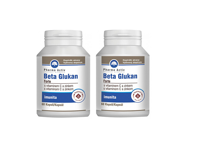 Zobrazit detail výrobku Pharma Activ Beta Glukan Forte vitamín C a zinek 60 tablet 1+1 - SLEVA - KRÁTKÁ EXPIRACE 31.8.2020 - POMAČKANÁ KRABIČKA