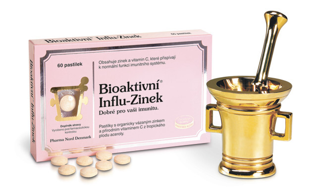 Pharma Nord Bioaktivní Influ-Zinek 60 pastilek