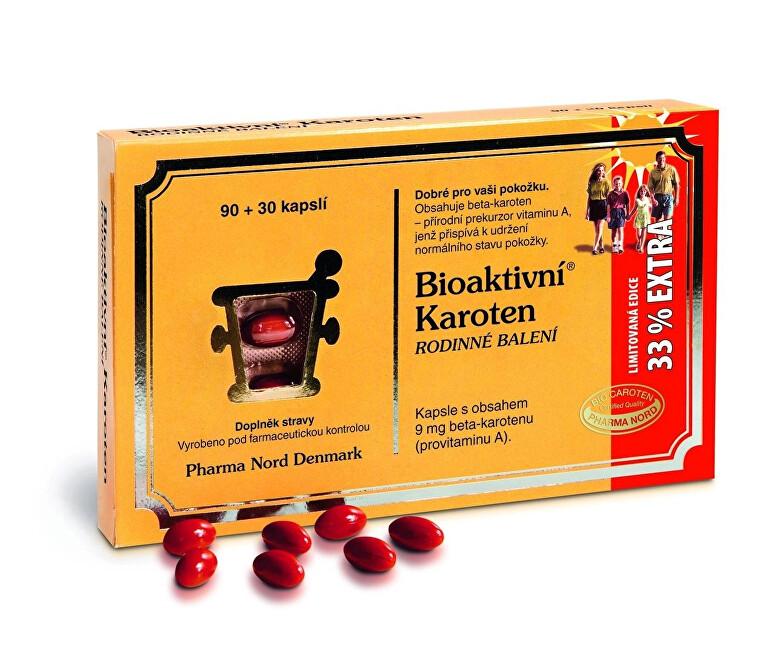 Pharma Nord Bioaktivní Karoten Rodinné balení 90+30 pastilek EXTRA