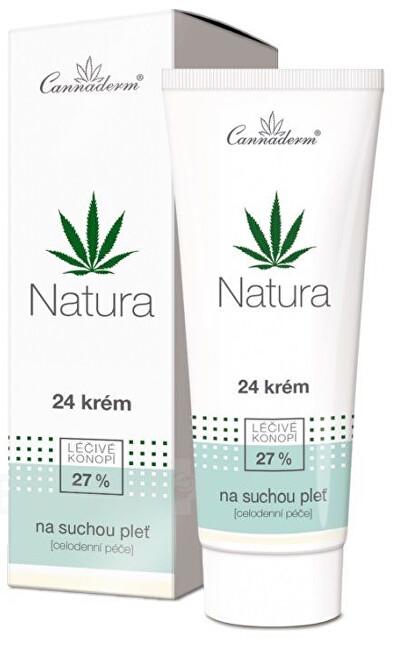 Cannaderm Natura 24 krém na suchou pleť 75g