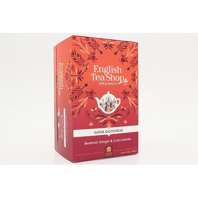 Zobrazit detail výrobku English Tea Shop Červená řepa, zázvor a listy curry Super Veggie Tea 20 sáčků