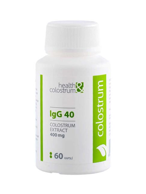 Health&colostrum Colostrum IgG 40 (400 mg) 60 kapslí