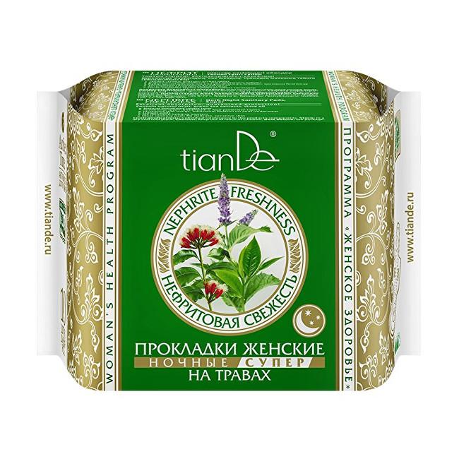 Zobrazit detail výrobku tianDe Dámské bylinné menstruační vložky Nefritová svěžest - noční super 10 ks