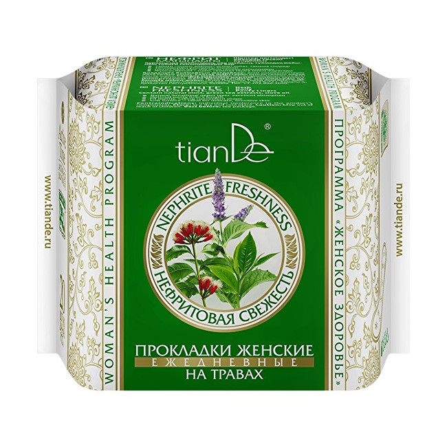 Zobrazit detail výrobku tianDe Dámské bylinné slipové vložky Nefritová svěžest 20 ks