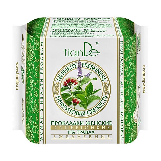 Zobrazit detail výrobku tianDe Dámské bylinné slipové vložky Nefritová svěžest - super tenké 25 ks