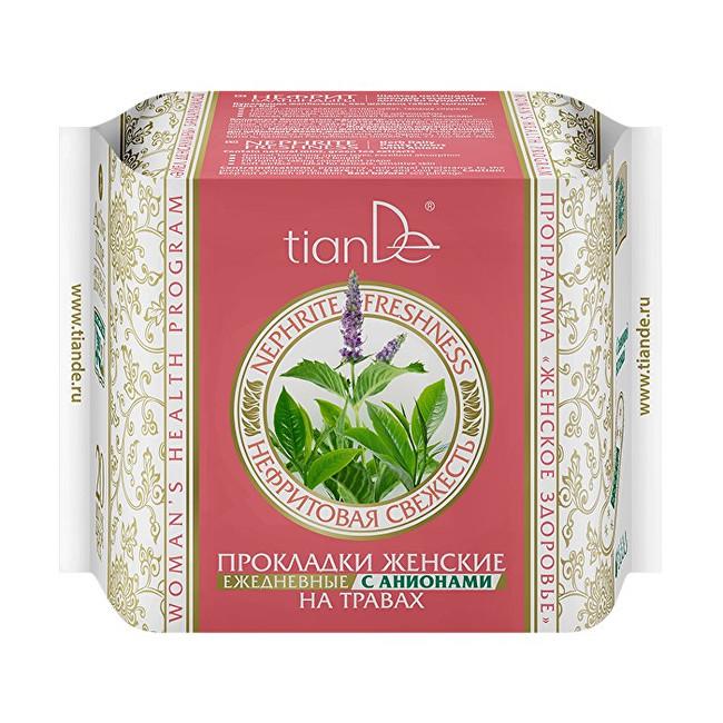 Zobrazit detail výrobku tianDe Dámské bylinné slipové vložky s anionty Nefritová svěžest 20 ks