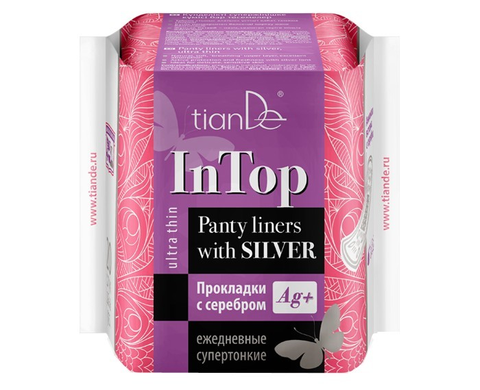 Dámské slipové vložky se stříbrem InTop 20 ks