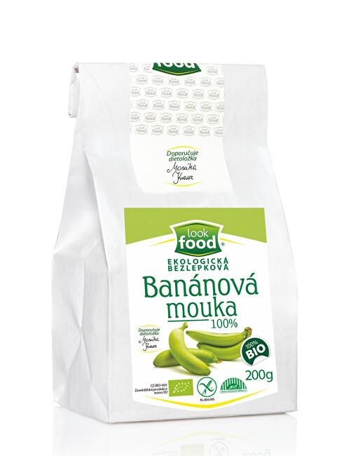 Zobrazit detail výrobku Look food s.r.o Ekologická bezlepková banánová mouka 100% 200 g BIO
