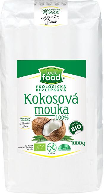 Zobrazit detail výrobku Look food s.r.o Ekologická bezlepková kokosová mouka 100% 1000g BIO