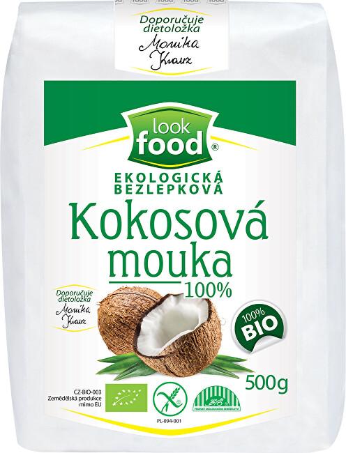 Zobrazit detail výrobku Look food s.r.o Ekologická bezlepková kokosová mouka 100% 500 g BIO