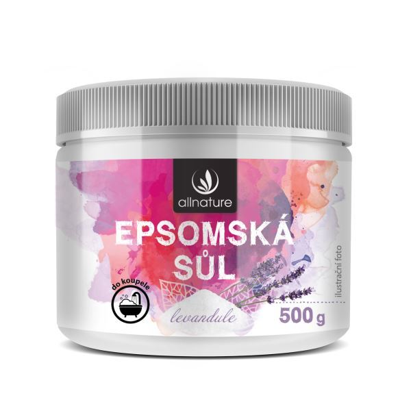 Zobrazit detail výrobku Allnature Epsomská sůl Levandule 500 g