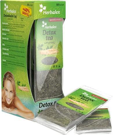 Herbamedicus Herbalex detoxikační čaj s ženšenem 10 ks + 40% zdarma