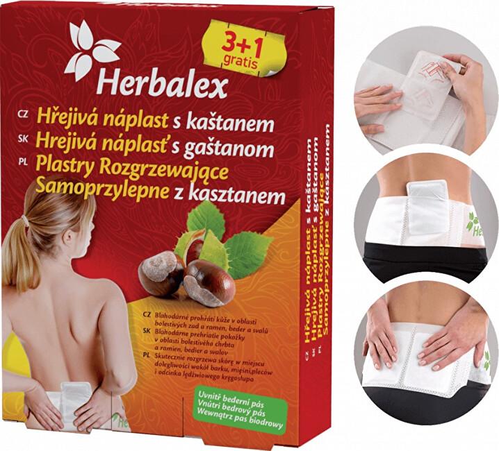 Zobrazit detail výrobku Herbamedicus Hřejivé náplasti s kaštanem 3+1 gratis + bederní pás