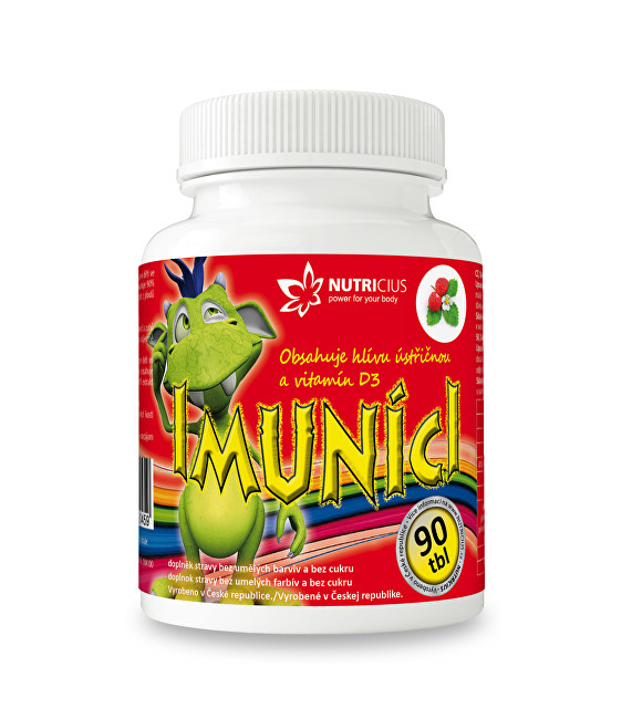 Zobrazit detail výrobku Nutricius Imuníci – hlíva ústřičná svitamínem D pro děti 90 cucavých tbl.
