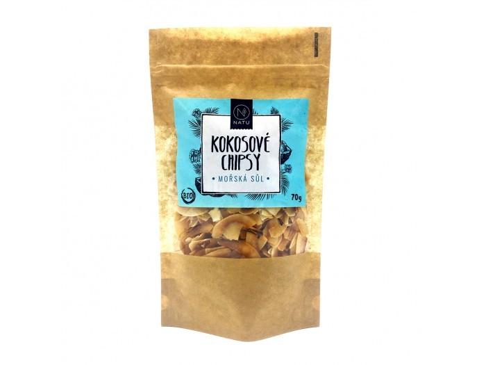 Natu Kokosové chipsy morská soľ BIO 70 g
