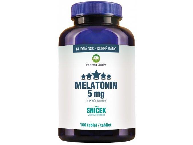 Zobrazit detail výrobku Pharma Activ Melatonin 5mg Sníček 100 tablet
