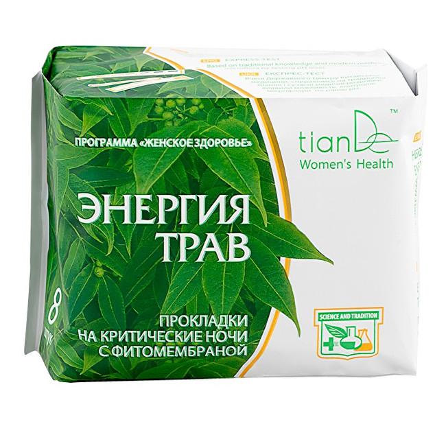 Zobrazit detail výrobku tianDe Noční menstruační vložky Energie bylin 8 ks