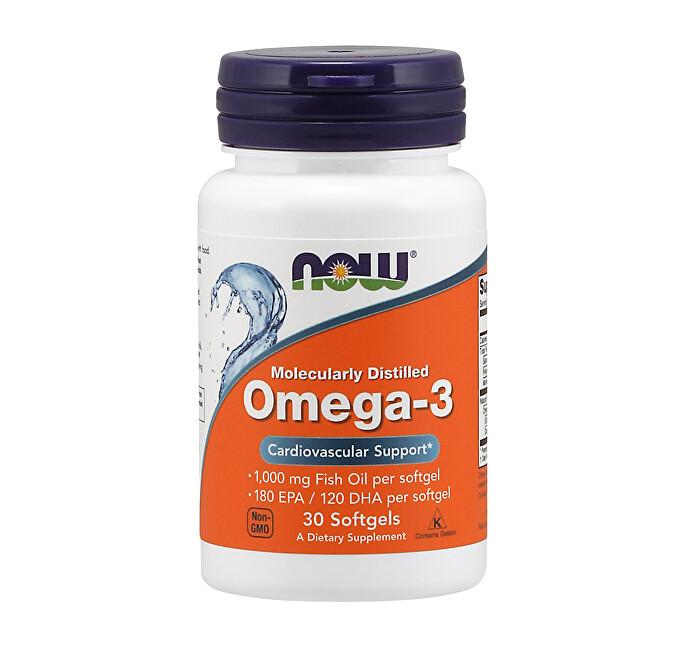 Zobrazit detail výrobku NOW Omega 3 1000mg 30 tobolek