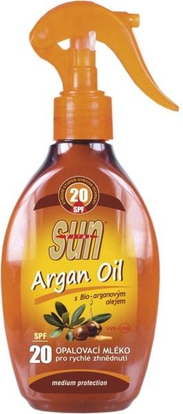 Zobrazit detail výrobku SUN Opalovací mléko s arganovým olejem OF 20 rozprašovací 200 ml