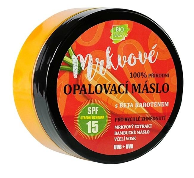 Vivaco Přírodní opalovací mrkvové máslo OF 15 150 ml