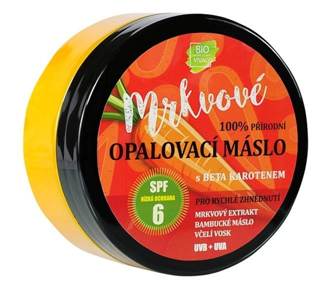 Vivaco Přírodní opalovací mrkvové máslo OF 6 150 ml