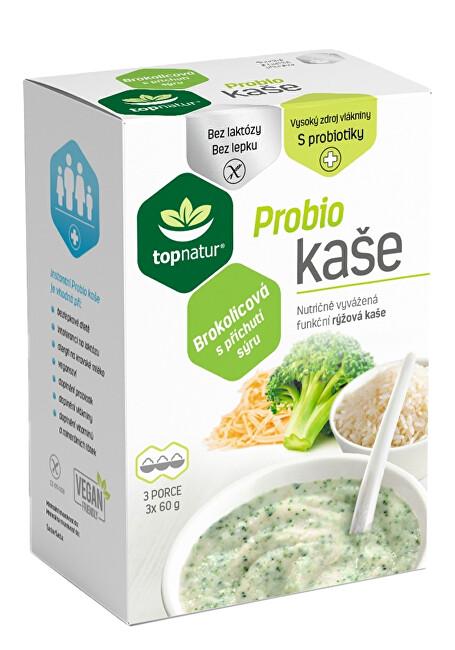 Topnatur Probio kaše brokolicová s příchutí sýru 3 x 60 g