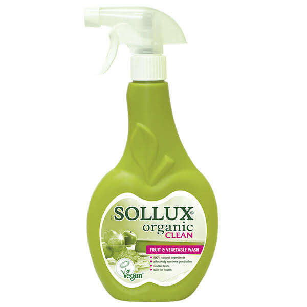 Sollux Organic Clean Sollux Organic Clean na mytí ovoce a zeleniny 500 ml