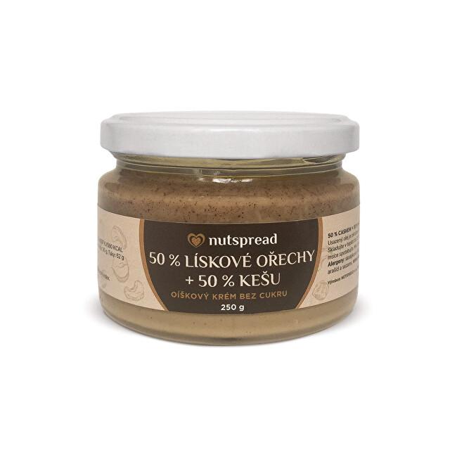 Zobrazit detail výrobku Nutspread 100% dvoubarevné lískooříškové máslo s kešu Nutspread 250 g