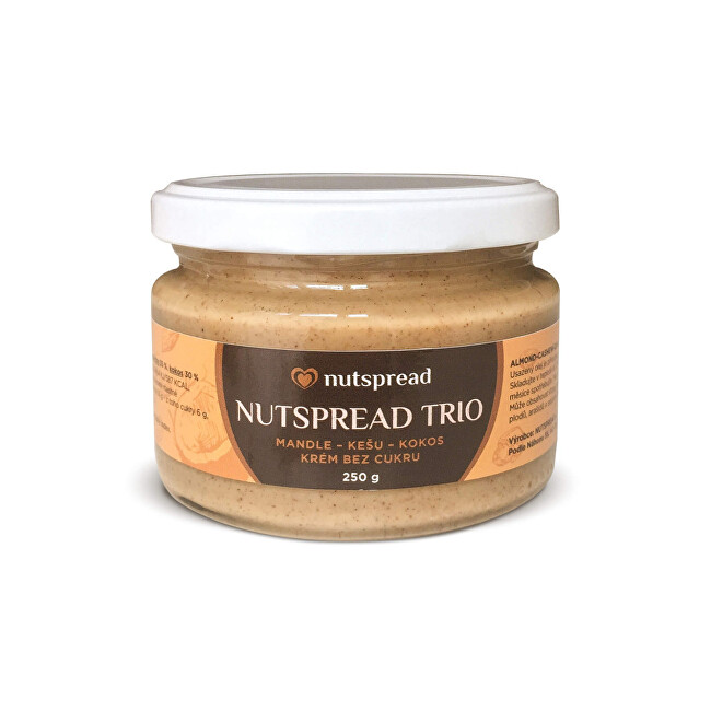 Zobrazit detail výrobku Nutspread 100% oříškové máslo Nutspread  Trio ze tří druhů ořechů 250 g