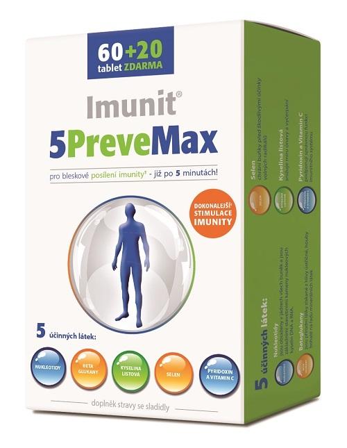 Zobrazit detail výrobku Simply You 5PreveMax Imunit nukleotidy + betaglukan 60+20 tablet