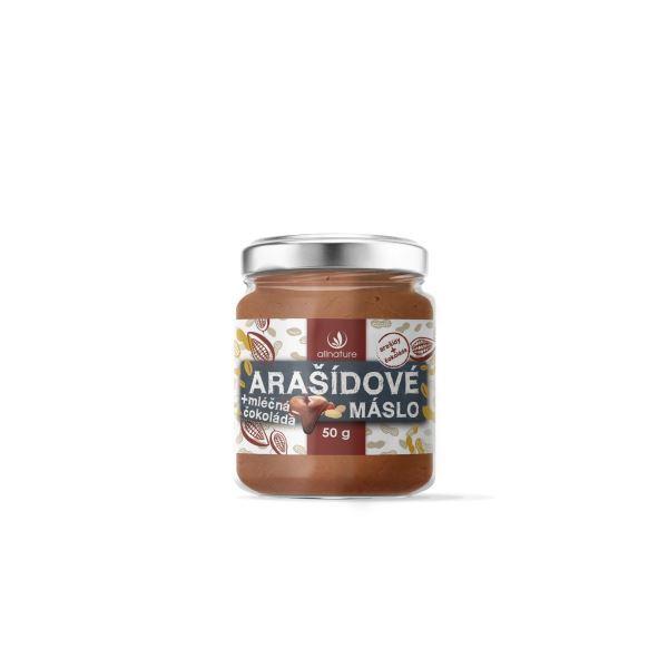 Zobrazit detail výrobku Allnature Allnature Arašídové máslo s mléčnou čokoládou 50 g