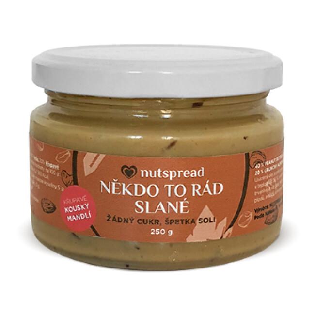 Nutspread Někdo to rád slané - Arašídové máslo s kešu, mandlemi a solí 250 g
