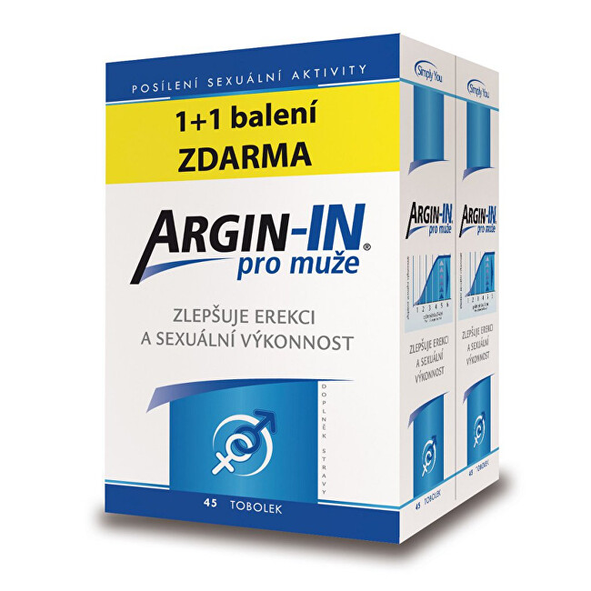 Zobrazit detail výrobku Simply You Argin-IN pro muže 45 tobolek + Argin-IN 45 tobolek zdarma