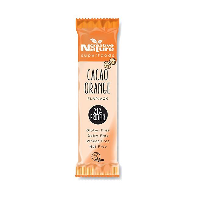 Creative Nature Creative Nature Protein Flapjack s kakaem a pomerančem 40 g