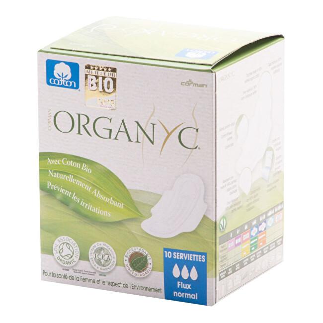 Zobrazit detail výrobku Organyc Dámské vložky s křidélky denní BIO bavlna 10 ks
