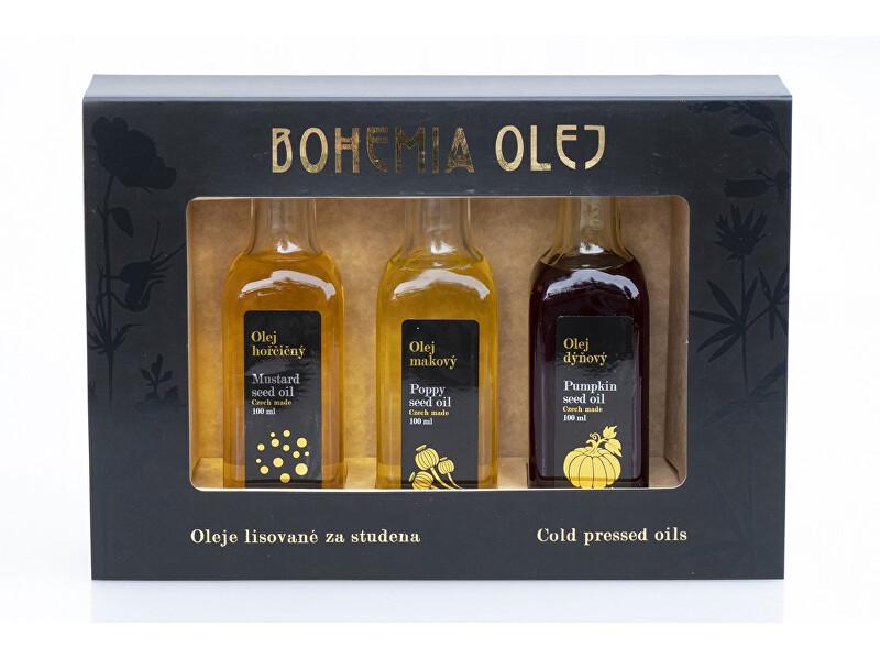 BohemiaOlej Dárkový set (hořčičný, makový, dýňový olej) 3x100ml