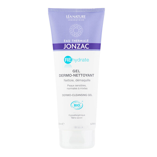 JONZAC Gél dermo-čistiace REHYDRATE BIO 200 ml