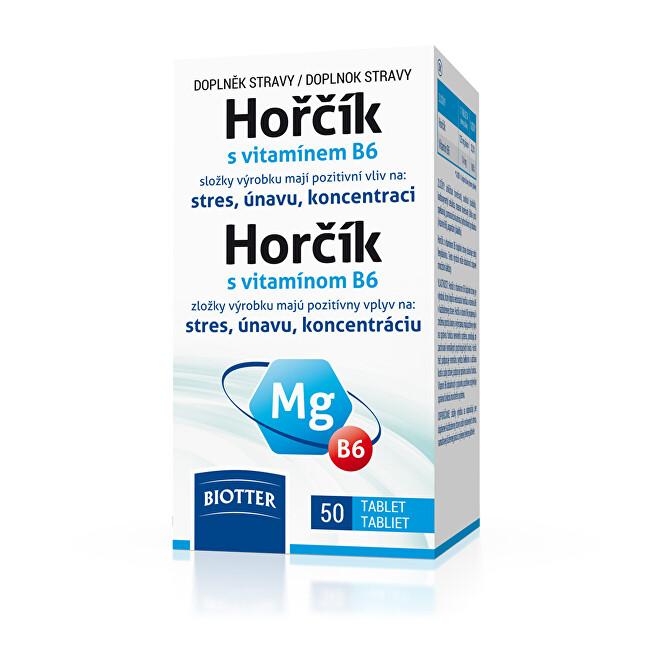 Zobrazit detail výrobku Biotter Pharma Hořčík 125 mg s vitamínem B6 50 tablet